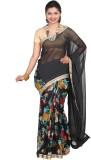 vinaa sarees Printed Fashion Synthetic C...