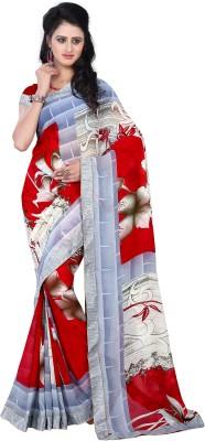 DIVINEFASHIONSTUDIO Floral Print Fashion Georgette Sari