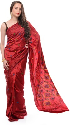 Samayra Embriodered Katha Art Silk Sari