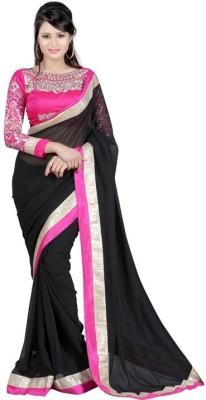 Ramadev Fashion Self Design Bollywood Chiffon Sari