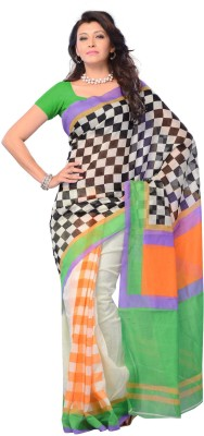 Diva Fashion-Surat Checkered Daily Wear Handloom Cotton Sari