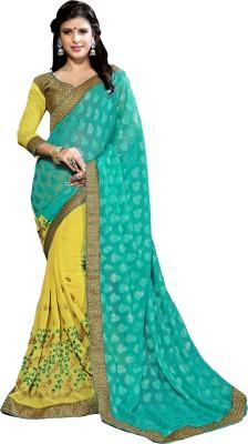 Dilwaa Self Design, Embriodered, Embellished Fashion Georgette, Jacquard Sari