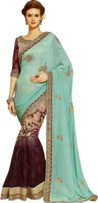 Indian E Fashion Embriodered Bollywood Georgette Sari