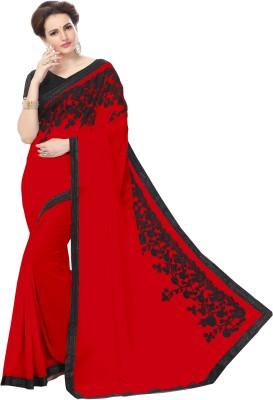 Elevate Women Embriodered, Embellished Fashion Chiffon Sari