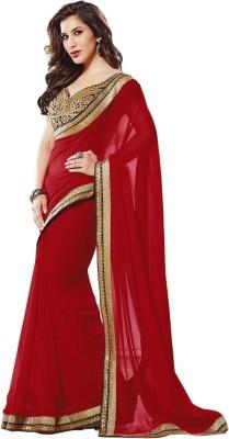 ARsalesIND Embriodered Fashion Marble Padding, Georgette Sari