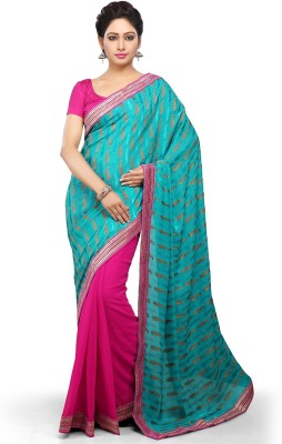 Bay & Blue Embriodered Fashion Jacquard Sari