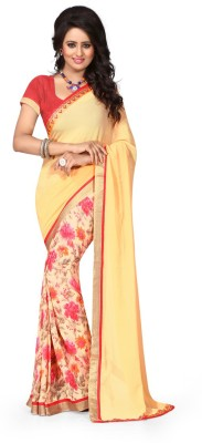 Dreambucket Floral Print Bollywood Georgette Sari