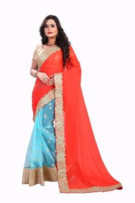 elvira Embriodered Fashion Chanderi Sari