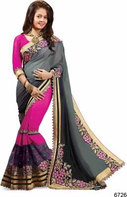 Ridham Sarees Embriodered Fashion Georgette Sari