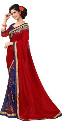 Atilier Floral Print Fashion Georgette Sari