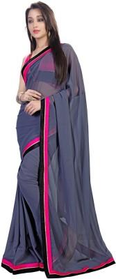 RIDDHIsiddhi Plain Fashion Georgette Sari