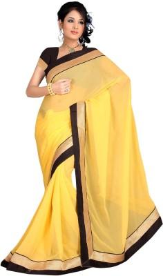Dee Three Plain Daily Wear Chiffon Sari