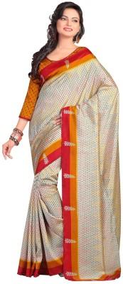 Muta Fashions Printed Bollywood Raw Silk Sari