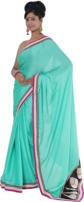 Vikrant Collections Plain Chanderi Satin Sari