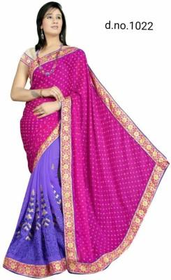 Radhe Fashion Embriodered Fashion Handloom Jacquard, Cotton Sari