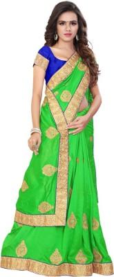 Jhenny Fabrics Embriodered Fashion Handloom Silk Sari