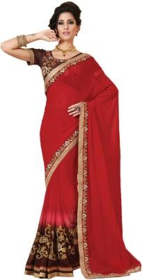 Khushali Self Design, Embriodered, Embellished Fashion Georgette Sari