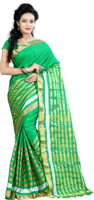 Fashionoma Self Design, Checkered Fashion Polycotton Sari