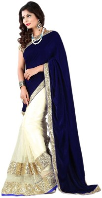 Al Zareen Self Design, Solid Fashion Velvet, Net Sari