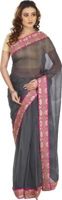 Kajal New Collection Solid Bollywood Pure Chiffon Sari