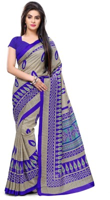 AJS Chevron, Geometric Print, Striped, Printed Fashion Art Silk Sari