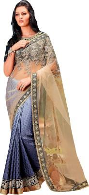 Brijraj Embriodered Fashion Net, Satin, Jacquard Sari
