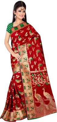 The Core Fashion Animal Print Fashion Handloom Jacquard Sari