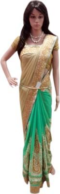 HAPPYSHOPP Embriodered Fashion Net Sari