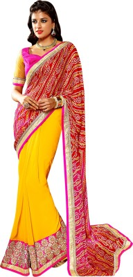 SEEMART Solid Fashion Georgette Sari