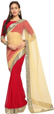 Bay & Blue Embriodered Fashion Net Sari