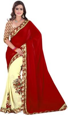 Fashion Queen Self Design, Printed Fashion Georgette Sari