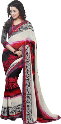 Sams Collection Floral Print Bollywood Georgette Sari
