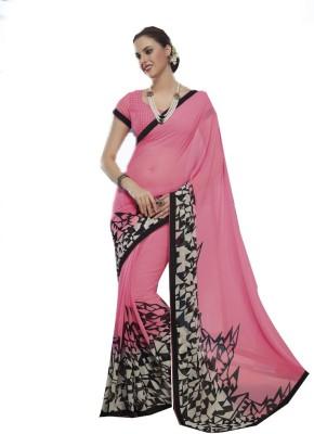 Rajhans Fashion Floral Print Fashion Georgette Sari