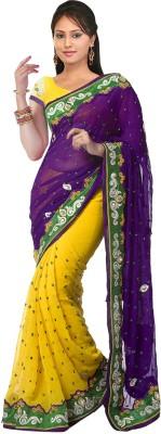 SFC Self Design Bollywood Chiffon Sari