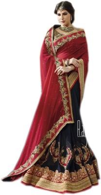 AC Creation Embriodered Bandhej Chiffon Sari
