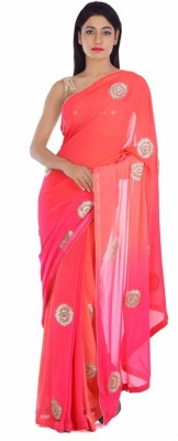 Geroo Embellished Fashion Pure Georgette Sari