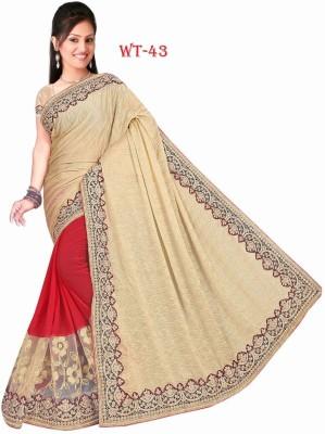 West Turn Embriodered Coimbatore Handloom Pure Silk Sari