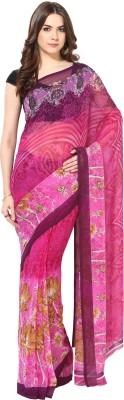 Fostelo Printed Daily Wear Chiffon Sari