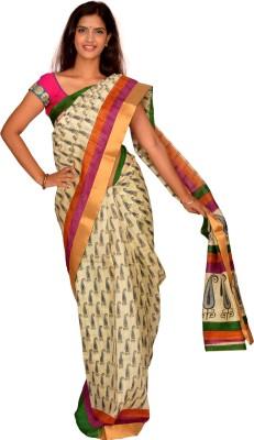 Jagadamba Solid Bhagalpuri Silk Sari