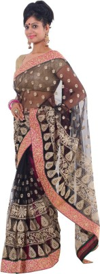 Vikrant Collections Embriodered Bollywood Net Sari