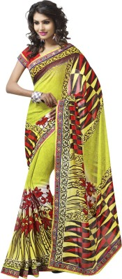 WomenVilla Printed Fashion Georgette Sari