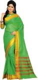 Aswani Striped Fashion Cotton Saree (Gre...