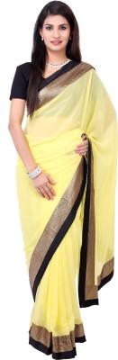 SaiArisha Solid Daily Wear Synthetic Sari