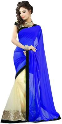 Festivemall Printed Fashion Georgette Sari