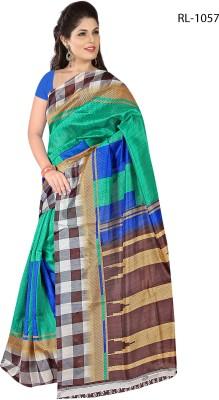 Salasar Floral Print Bhagalpuri Cotton Slub Sari