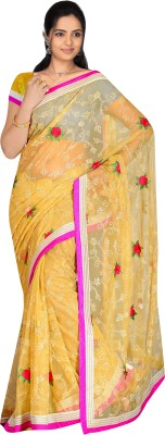 MGS Self Design Fashion Handloom Net Sari