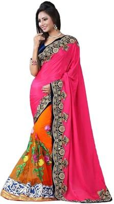 Informationworlds Self Design Bollywood Net Sari