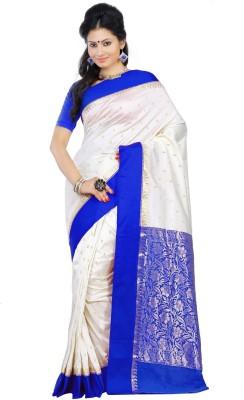 Crochetin Self Design Fashion Tussar Silk Sari