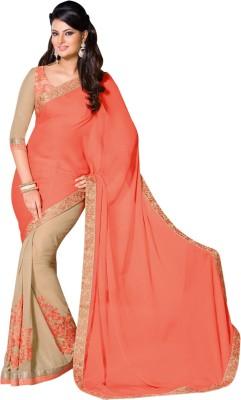 Kuberan Floral Print Daily Wear Georgette Sari