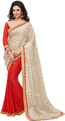 Krazzydesi Printed Bhagalpuri Banarasi Silk Sari